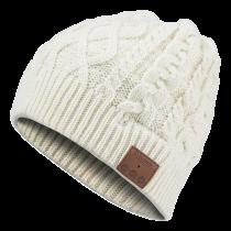 GADGETMONSTER kepurė su įmontuotomis BT ausinėmis,  balta megzta GDM-1013