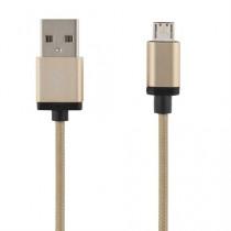 "MOB. TELEFONO KABELIS DELTACO PRIME USB 2.0 ""A-MICRO B"", 2.0M, AUKSO SP. / MICRO-114"