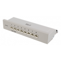 DELTACO Patch Panel, 8xRJ45, Cat6a, Wall Mountable, 10Gbps, Krone Terminals, Metal, Gray / PAN-210
