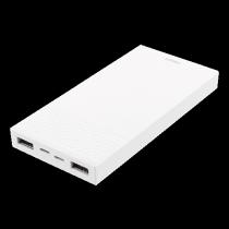Išorinė  baterija DELTACO 10000mAh, 2.1A, 2xUSB, prietaiso įkrovimas:2xUSB, baterijos įkrovimas:1 x Lightning / 1 x USB micro-B, balta / PB-817