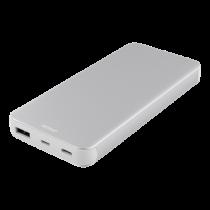 DELTACO 10.000 mAh išorinė Li-Po baterija su USB-C, sidabrinė / PB-831