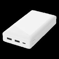 Išorinė baterija DELTACO 20000 mAh, 2.1 A / 10.5 W, 74 Wh, 2x USB-A, balta / PB-A1002
