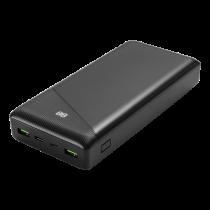 DELTACO maitinimo bankas 30000 mAh, 3 A / 18 W, 111 Wh, 2x USB-A, 1x USB-C, fa