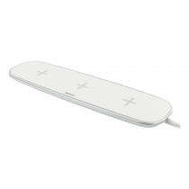 Bevielis įkriviklis DELTACO 3 įrenginiams, 3x5W, V1.1, baltas / QI-1023