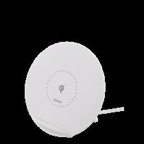 Bevielis įkroviklis DELTACO tinkamas iPhone ir Android, 10W, baltas / QI-1026