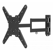 "Laikiklis QNECT 32""-55"", max 35kg., VESA 75x75 to 400x400, 3 krypčių, juodas / QNE-1004"