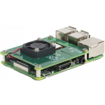 ",,PoE HAT"" skirtas Raspberry Pi 3 Model B +, įmontuotas ventiliatorius Raspberry Pi / RPI POEHAT"