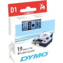 D1, prekės ženklo juosta, 19mm, juodas tekstas ant mėlynos juostos, 7m - 45806 DYMO / S0720860