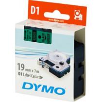 D1, prekės ženklo juosta, 19mm, juodas tekstas ant žalios juostos, 7m - 45800 DYMO / S0720890