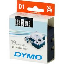 D1, žymėjimo juosta, 19mm, baltas tekstas ant juodo juostos, 7m - 45811 DYMO / S0720910