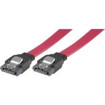 Cable DELTACO, SATA/SAS, locking clips, straight-straight, 0.5m / SATA-05D