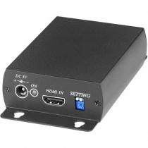 Signalo keitiklis iš HDMI į HD-SDI, BNC, PAL / NTSC / 720p / 1080p, juodas / SDI02