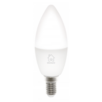 "DELTACO SMART HOME LED lemputė, E14, ""WiFI 2.4GHz"", 5W, 470lm, 2700K – 6500K, 220–240 V, balta  SH-LE14W"