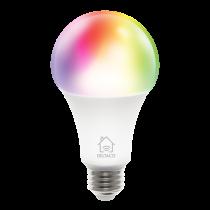 DELTACO SMART HOME RGB LED lemputė, E27, WiFI 2.4GHz, 9W, 810lm, pritemdoma, 16m spalvų, 220-240V, balta  SH-LE27RGB