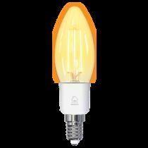 DELTACO SMART HOME LED kaitrinė lempa, E27, WiFI 2.4GHz, 4.5W, 400lm, pritemdoma, 1800K-6500K, 220-240V, SH-LFE14C35