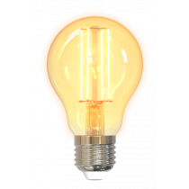 DELTACO SMART HOME LED filament lamp, E27, WiFI 2.4GHz, 5.5W, 470lm, dimmable, 1800K-6500K, 220-240V, white SH-LFE27A60