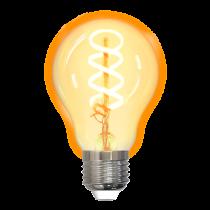 DELTACO SMART HOME Spiralinė LED lempa, E27, WiFI 2.4GHz, 5.5W, 470lm, diminama, 1800K-6500K, 220-240V, SH-LFE27A60S