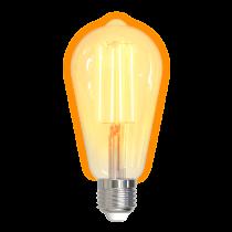 Išmani LED lemputė DELTACO SMART HOME E27, WiFI 2.4GHz, 5.5W, 470lm, 1800K-6500K, 220-240V / SH-LFE27ST64