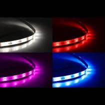 """DELTACO SMART HOME"" LED juostos prailginimas, 1m, RGB, 2700K-6500K, 6 kontaktų, tinka SH-LS3M, baltas SH-LSEX1M"