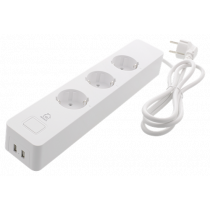 "DELTACO SMART HOME ilgiklis, ""WiFi"" 2,4 GHz, 3xCEE 7/3, 2xUSB-A, 13A, 220–240 V, 1,5 m, baltas  SH-P03USB"