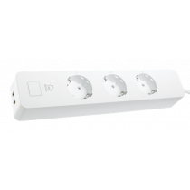 Ilgiklis DELTACO SMART HOME 3xCEE 7/4, USB-A 2A, baltas / SH-P03USB2