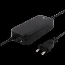NB maitinimo šaltinis DELTACO 90W, USB, tinkamas HP, Dell, Lenovo, juodas / SMP-90W6