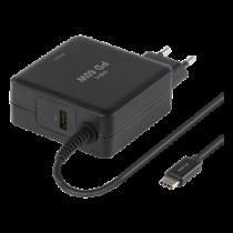 Nešiojamo kompiuterio įkroviklis DELTACO Black / SMP-USBC60PD