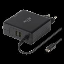 Nešiojamo kompiuterio įkroviklis DELTACO juodas / SMP-USBC87PD3