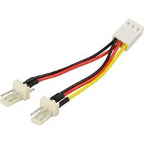 Cable Adapter DELTACO for 3-pin fans / SSI-36