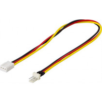 Adapteris kabelis DELTACO 3-pin, 0.3m / SSI-37