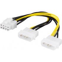 Adapteris kabelis DELTACO 4-pin to 8-pin, 30cm  / SSI-62