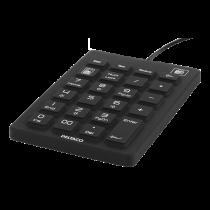 DELTACO silikoninis skaitliukas, IP68, 23 raktai, USB, juodas TB-510