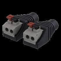 2 kontaktų kabelių blokas iki 5,5 DC, 2 pakuočių, mygtukas, 5,5 DC DELTACO juodas / TBL-1002