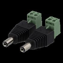 2-jų kontaktų kabelių blokas iki 5,5 DC, 2-Pack, varžto fiksatorius, 5,5 DC įtampa DELTACO juoda / TBL-1005