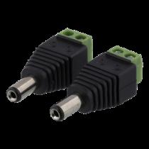 2-jų kontaktų kabelių blokas iki 5,5 DC, 2-Pack, varžto fiksatorius, 5,5 DC įtampa DELTACO black / TBL-1006
