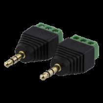 3-jų kontaktų blokas iki 3,5 mm, 2-Pack, varžtas, 3,5 mm DELTACO black / TBL-1007
