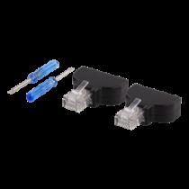 8 kontaktų blokas iki RJ45, 2-Pack, varžtas, RJ45 DELTACO juodas / TBL-1009