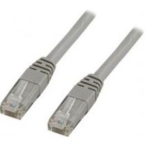 DELTACO U / UTP Cat6 patch cable, 1m, 250MHz, Delta-certified, LSZH, gray / TP-61