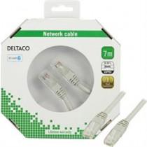 DELTACO F / UTP Cat6 Patch kabelis, 7m, 250MHz, Delta-certified, LSZH, pilkas / TP-67-K