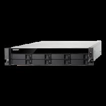"19 ""1U NAS korpusas, 8x2.5"" / 3.5 "" lizdai, SSD RAID, juoda QNAP / TVS-872XU-i3-4G"