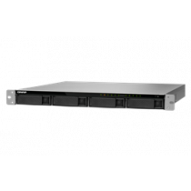 "19 ""1U NAS korpusas, 4x2.5"" / 3.5 ""lizdai, ,,8th gene Intel Core"", black QNAP / TVS-972XU-RP-i3-4G"