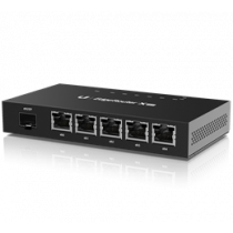 Ubiquiti EdgeRouter X, 5 Ports, SFP, Gigabit, Passive PoE, Black  ER-X-SFP  / UBI-ER-X-SFP