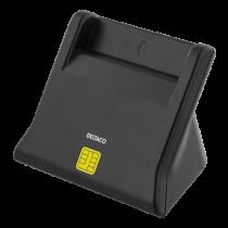 Kortelių skaitytuvas DELTACO, USB, juodas / UCR-156