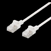 DELTACO U / FTP Cat6a pleistras, plonas, 3,8 mm skersmens, 1,5 m, baltas
