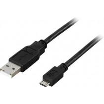 Kabelis DELTACO USB 2.0, 5 pin, 0.5m, juodas / USB-300S