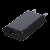 DELTACO USB sieninis įkroviklis, 1x USB-A, 1 A, 5 W, juodas USB-AC172