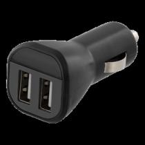 Auto įkroviklis DELTACO, 2.4A, 2xUSB, juodas / USB-CAR119