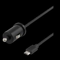 Auto įkroviklis DELTACO automobilinis, micro USB, 1A, 1.0m, juodas / USB-CAR98