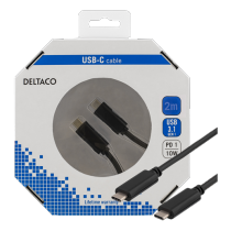 "Kabelis DELTACO USB 3.1 ""C - C"", 2m, juodas /  USBC-1056-K"