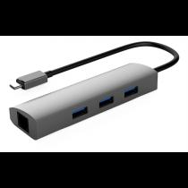 Winstar 3 port USB šakotuvas USB 3.1 Gen1, juodas / USBC-1209